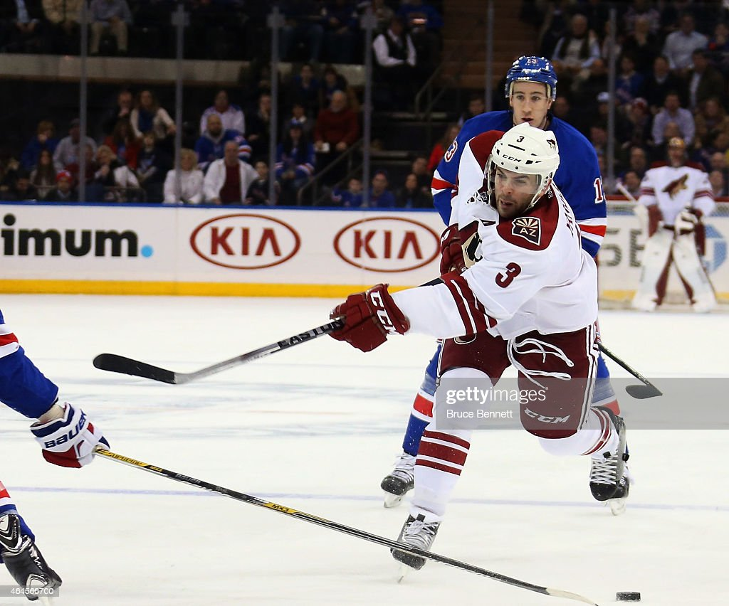 Arizona Coyotes v New York Rangers : News Photo
