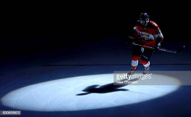 Keith Yandle of the Florida Panthers takes the ice during a game against the Montreal Canadiens at BBT Center on December 29 2016 in Sunrise Florida