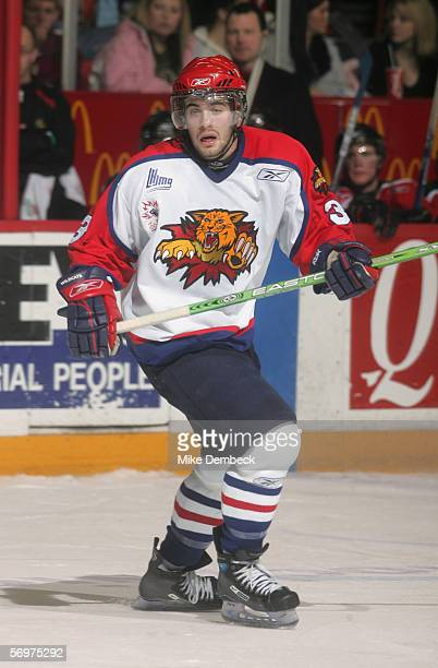 Keith Yandle of the Moncton Wildcats skates against the Halifax Mooseheads at the Halifax Metro Centre on January 8 2006 in Halifax Nova Scotia...