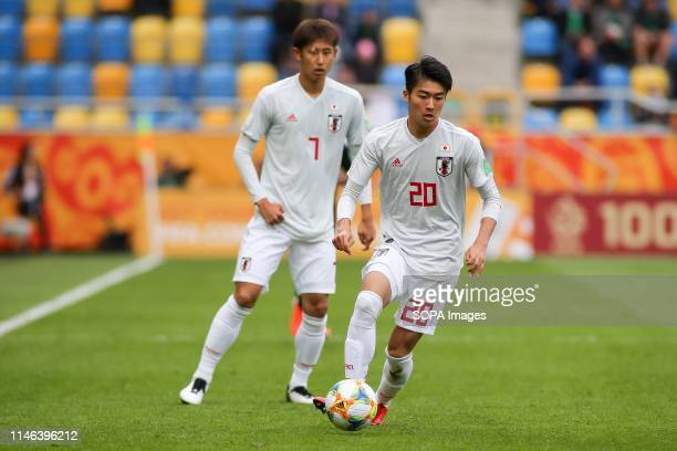 Keito Nakamura from Japan seen in action during the FIFA U-20 World Cup match between Mexico and Japan in Gdynia. .