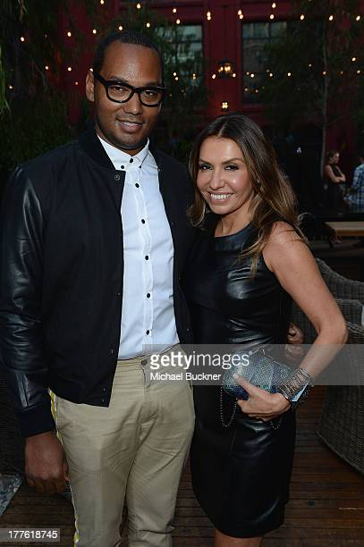 Keivn Fegans of ASOS and NYLON Publisher Jaclynn Jarrett attend the NYLON September Issue Party hosted by NYLON ASOS and Emily VanCamp at The Redbury...