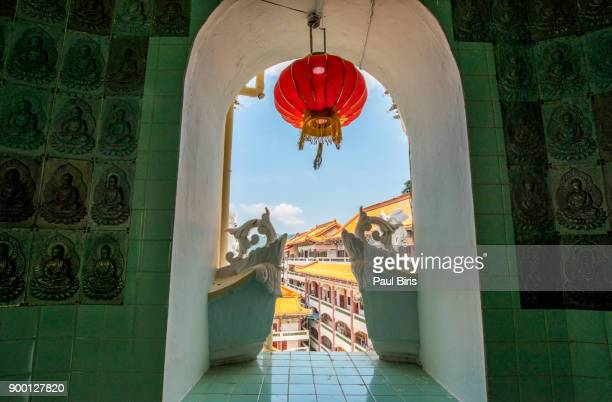 kek lok si buddhist temple penang, malaysia - george town penang stock photos and pictures
