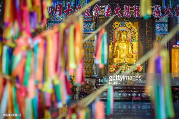 Kek Lok Si Temple Air Itam Penang Island Malaysia in January 2019 Kek Lok Si Temple is the largest Buddhist temple in Malaysia and also an important...