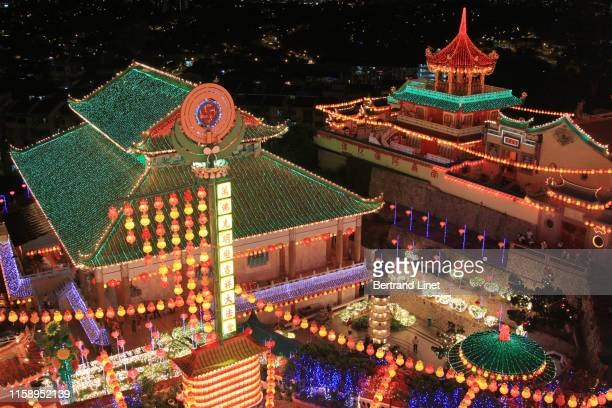 kek lok si temple in george town - malaysia - chinese lantern festival stock pictures, royalty-free photos & images