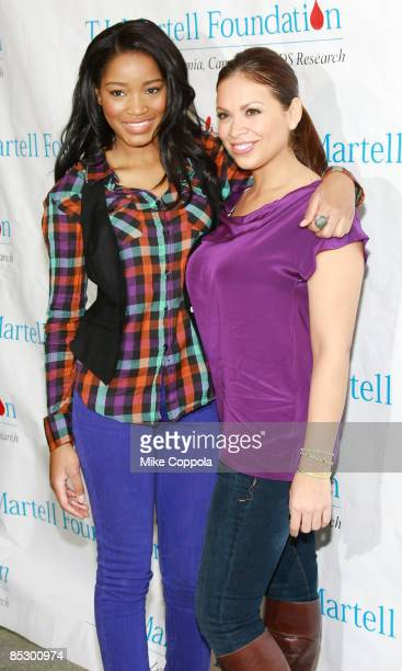 Keke Palmer and Carolina Bermudez attend the 10th annual TJ Martell Foundation Family Day at Roseland Ballroom on March 8 2009 in New York City