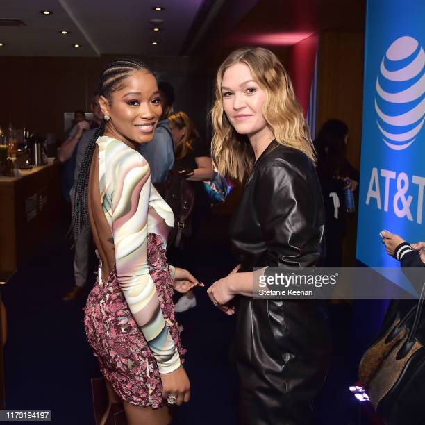 Keke Palmer and Julia Stiles stop by AT&T ON LOCATION during Toronto International Film Festival 2019 at Hotel Le Germain on September 08, 2019 in...