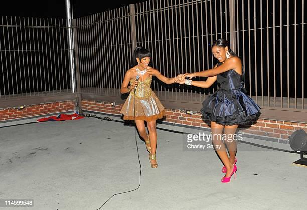 **EXCLUSIVE** Keke Palmer and Lil Mama attend 'True Jackson VP' star Keke Palmer's sweet 16 birthday party sponsored by TMobile Sidekick LX on August...