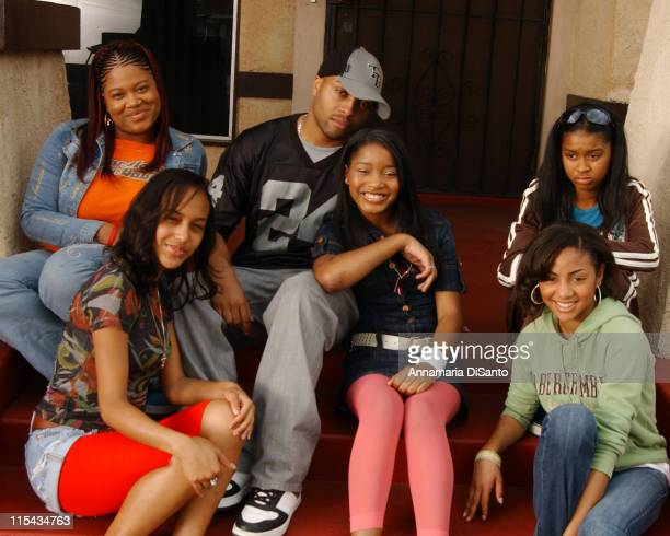 Keke Palmer and video director Davy Duhamel during Keke Palmer All My Girlz Music Video Shoot April 15 2006 in Los Angeles California United States