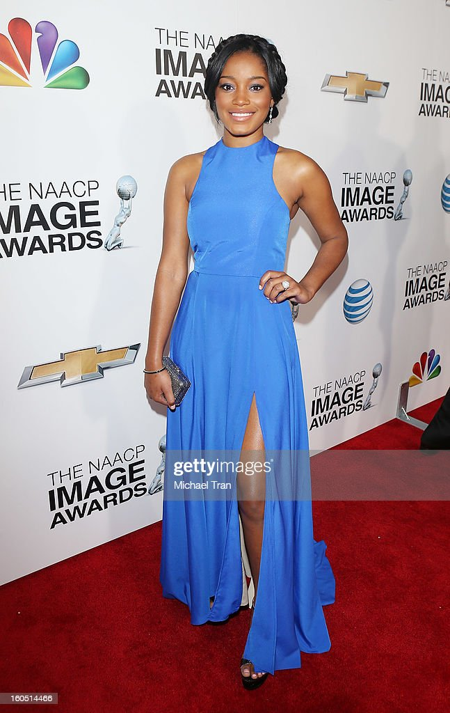 Keke Palmer arrives at the 44th NAACP Image Awards held at The Shrine Auditorium on February 1, 2013 in Los Angeles, California.
