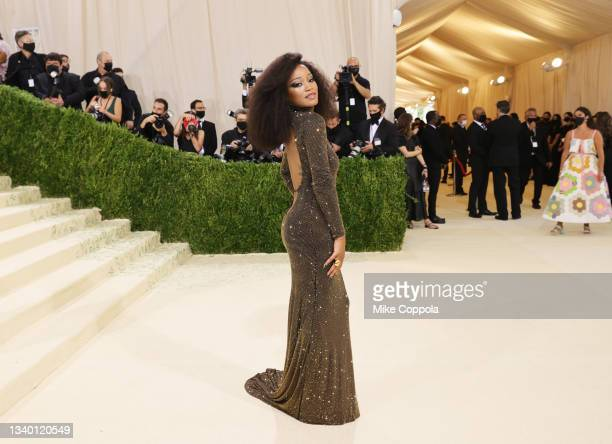 Keke Palmer attends The 2021 Met Gala Celebrating In America: A Lexicon Of Fashion at Metropolitan Museum of Art on September 13, 2021 in New York...