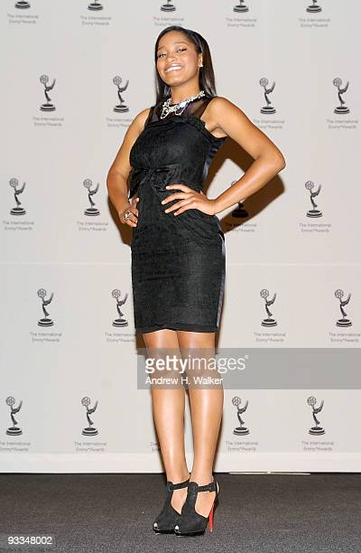 Keke Palmer attends the 37th International Emmy Awards gala press room at the New York Hilton and Towers on November 23 2009 in New York City