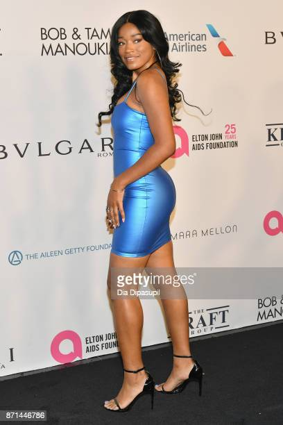 Keke Palmer attends the Elton John AIDS Foundation 25th Year And Honors Founder Sir Elton John During New York Fall Gala at Cathedral of St John the...