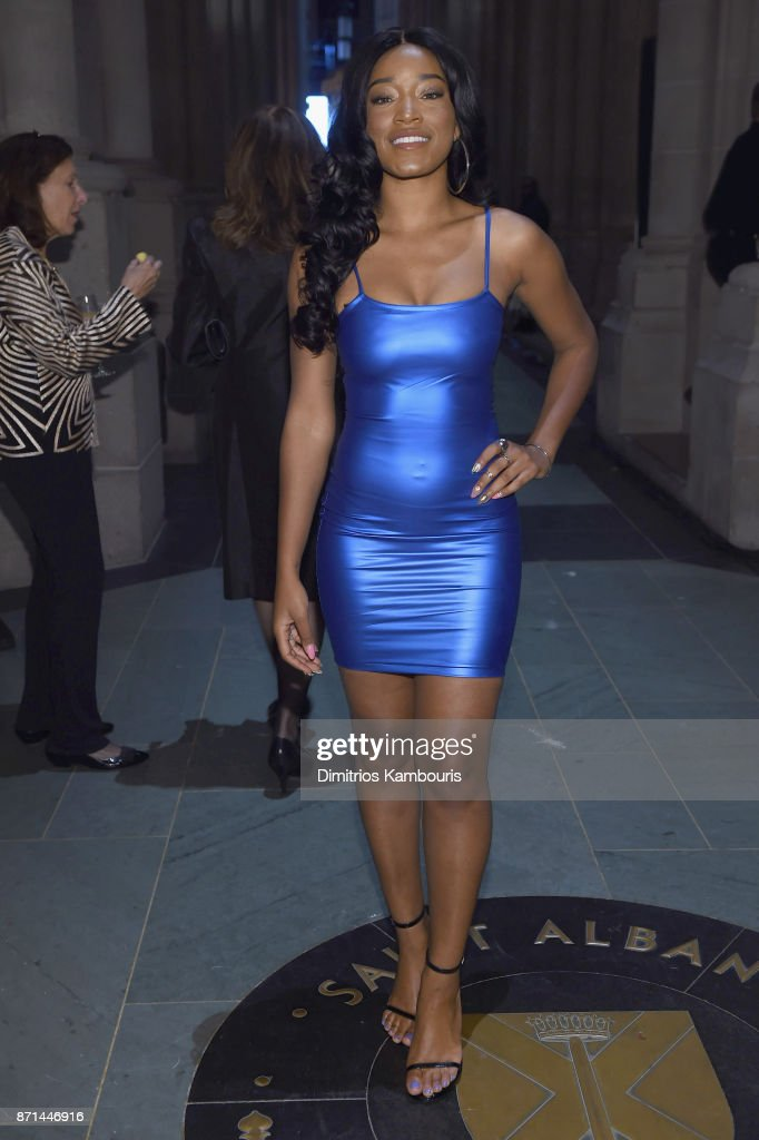 Keke Palmer attends the Elton John AIDS Foundation 25th Year And Honors Founder Sir Elton John During New York Fall Gala at Cathedral of St. John the Divine on November 7, 2017 in New York City.