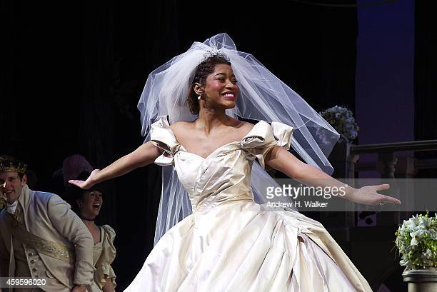 KeKe Palmer attends the Rodgers Hammerstein's Cinderella Broadway curtain call with NeNe Leakes and KeKe Palmer at Broadway Theatre on November 25...