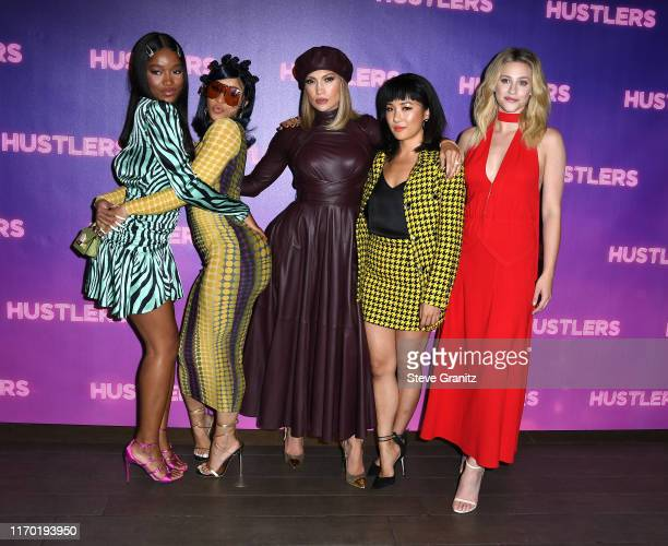 "Keke Palmer, Cardi B, Jennifer Lopez, Constance Wu, and Lili Reinhart pose at the Photo Call For STX Entertainment's ""Hustlers"" at Four Seasons Los..."