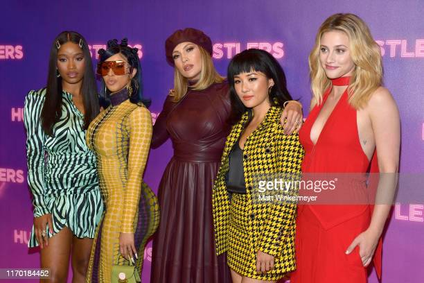 Keke Palmer Cardi B Jennifer Lopez Constance Wu and Lili Reinhart attend STX Entertainment's Hustlers Photo Call at Four Seasons Los Angeles at...