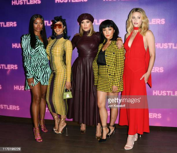 Keke Palmer Cardi B Jennifer Lopez Constance Wu and Lili Reinhart attend the Photo Call For STX Entertainment's Hustlers at Four Seasons Los Angeles...