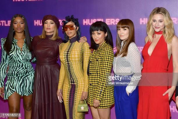 Keke Palmer Cardi B Jennifer Lopez Constance Wu Lorene Scafaria and Lili Reinhart attend STX Entertainment's Hustlers Photo Call at Four Seasons Los...