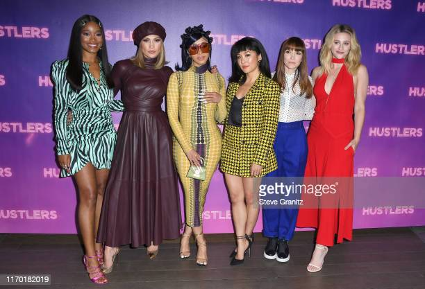 Keke Palmer Cardi B Jennifer Lopez Constance Wu Lorene Scafaria and Lili Reinhart attend STX Entertainment's Hustlers Photo Call at Four Seasons Los...