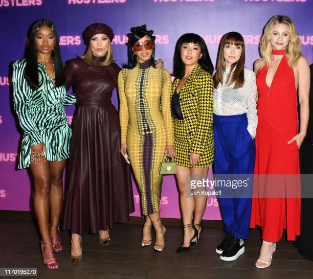 Keke Palmer Cardi B Jennifer Lopez Constance Wu Lorene Scafaria and Lili Reinhart attend the Photo Call For STX Entertainment's Hustlers at Four...