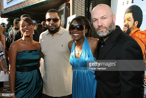 Keke Palmer Ice Cube Jasmine Plummer and Fred Durst pose at the premiere of the Weinstein Company's ''The Longshots'' at the Majestic Crest Theatre...