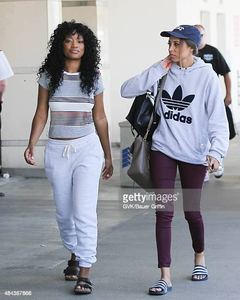 Keke Palmer is seen at LAX on August 17 2015 in Los Angeles California