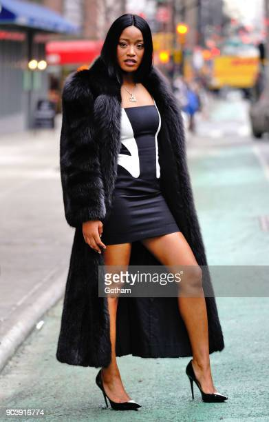 Keke Palmer is seen on January 11 2018 in New York City