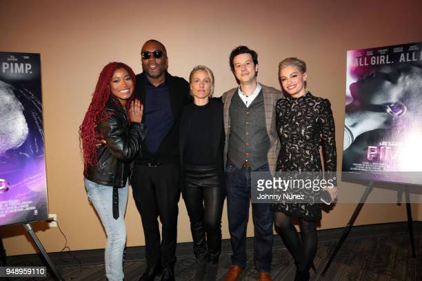 Keke Palmer Lee Daniels Christine Crokos Alexis Varouxakis and Victoria Bousis attend the 'Pimp' Private Screening at Regal Battery Park Cinemas on...