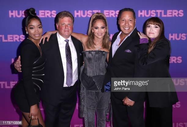 "Keke Palmer Paul Nielsen Jennifer Lopez Mario Polit and Director Lorene Scafaria at Alexander Wang STXfilms' New York Special Screening of ""Hustlers""..."