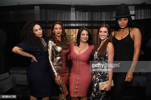 Keke Wyatt Amber Marchese Karen Gravano Jade Roper and Margeaux Simms attend The Season 6 Premiere of Marriage Boot Camp Reality Stars at Up Down on...
