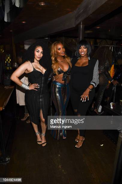 Keke Wyatt Eva Marcille and Porsha Williams attend 'WE tv Celebrates The Return Of Growing Up Hip Hop Atlanta' at Club Tongue Groove on October 2...