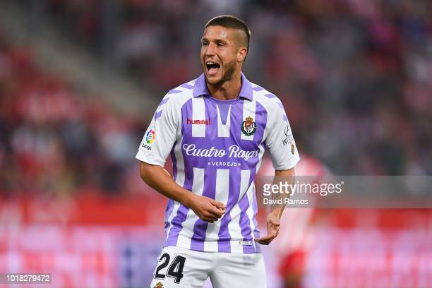 Keko Gontan of Real Valladolid CF looks on during the La Liga match between Girona FC and Real Valladolid CF at Montilivi Stadium on August 17 2018...