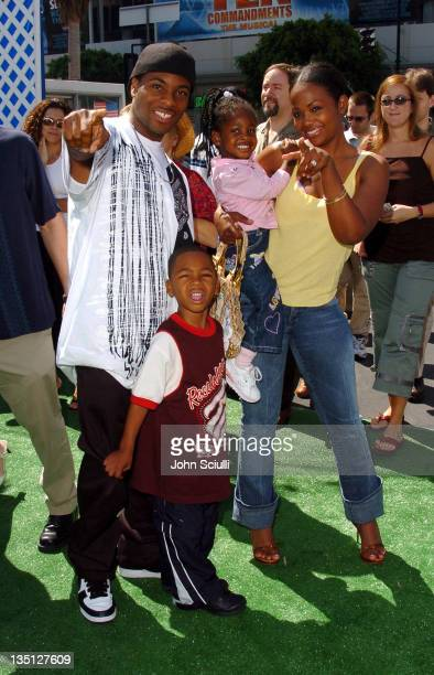 Kel Mitchell and family during 'YuGiOh' Los Angeles Premiere Red Carpet at Grauman's Chinese Theatre in Hollywood California United States