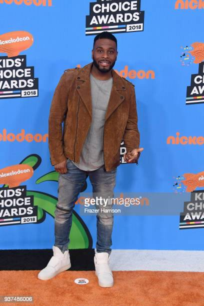 Kel Mitchell attends Nickelodeon's 2018 Kids' Choice Awards at The Forum on March 24 2018 in Inglewood California