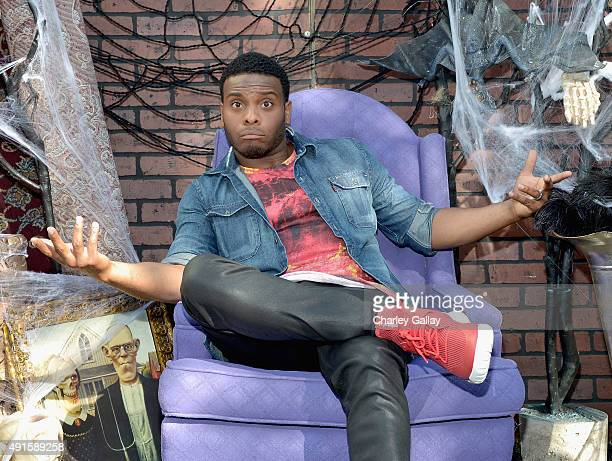Kel Mitchell from the cast of Nickelodeon's Game Shakers greet kids and fans at a special Halloweenthemed event at the Nickelodeon Animation Studio...