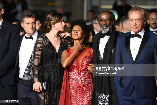 "Kelber Mendonca Filho, Emilie Lescaux, Danny Barbosa, Wilson Rabelo and Udo Kier attends the screening of ""Bacurau"" during the 72nd annual Cannes..."