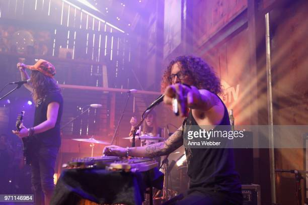 Kelby Ray of The Cadillac Three performs onstage in the HGTV Lodge at CMA Music Fest on June 10 2018 in Nashville Tennessee