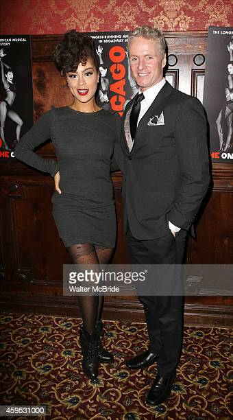 Kelcy Ann Griffin and Brian O'Brien attend the celebration party for 'Chicago' as it becomes the 2nd longest show in Broadway History at the...