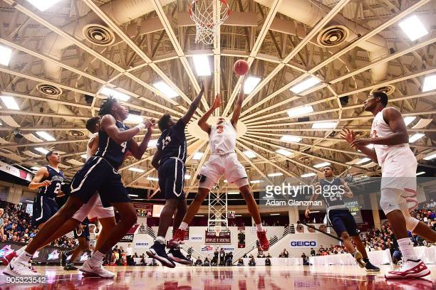 Keldon Johnson of Oak Hill Academy goes for a layup in a game against University School during the 2018 Spalding Hoophall Classic at Blake Arena at...