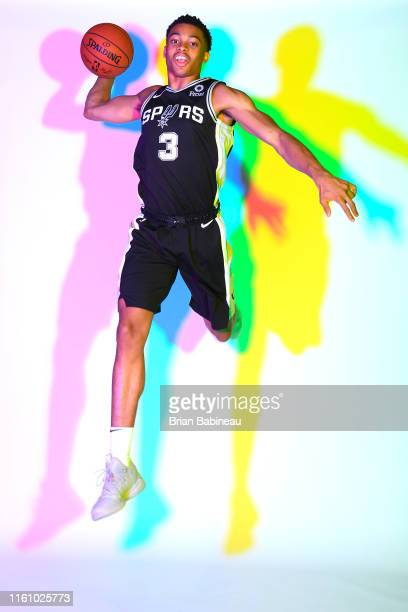 Keldon Johnson of the San Antonio Spurs poses for a portrait during the 2019 NBA Rookie Photo Shoot on August 11 2019 at the Fairleigh Dickinson...