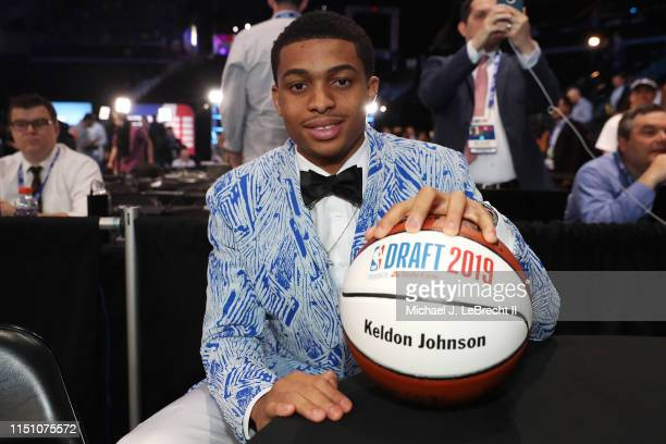Keldon Johnson poses for a photo before the 2019 NBA Draft on June 20 2019 at the Barclays Center in Brooklyn New York NOTE TO USER User expressly...