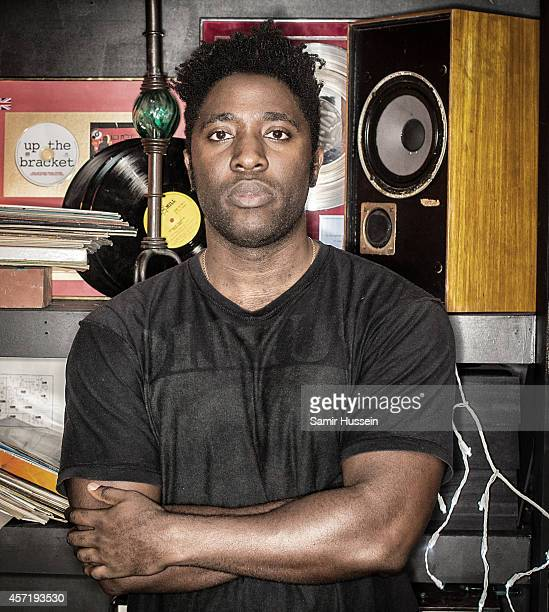 Kele Okereke poses for a portrait at his album launch at Jack Rocks at The Macbeth on October 13 2014 in London United Kingdom