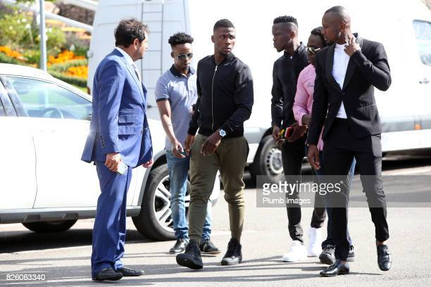 Kelechi Iheanacho arrives at Leicester City Belvoir Drive Training facility on August 3rd 2017 in Leicester United Kingdom