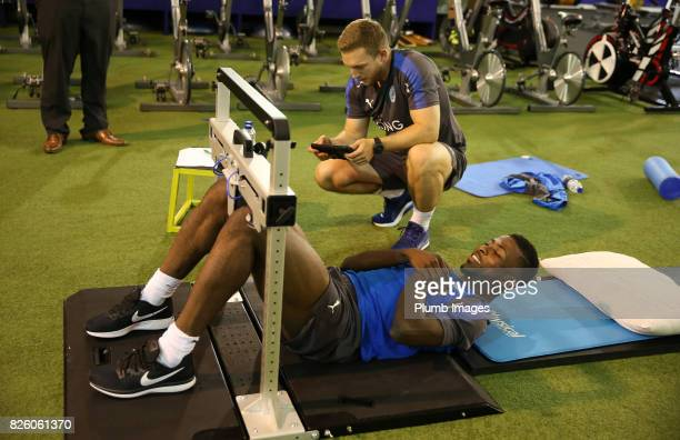 Kelechi Iheanacho during his medical at King Power Stadium on August 3rd 2017 in Leicester United Kingdom