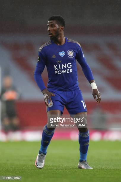 Kelechi Iheanacho of Leicester City during the Premier League match between Arsenal FC and Leicester City at Emirates Stadium on July 7 2020 in...