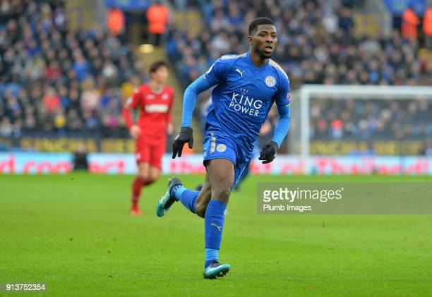 Kelechi Iheanacho of Leicester City during the Premier League match between Leicester City and Swansea City at King Power Stadium on February 3rd...