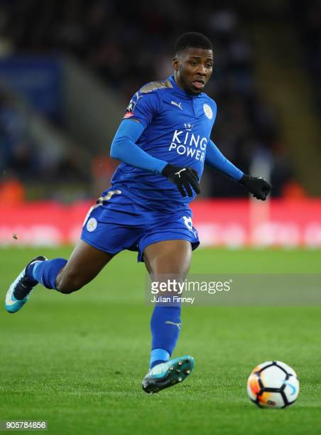 Kelechi Iheanacho of Leicester City in action during the Emirates FA Cup third round replay match between Leicester City and Fleetwood Town at The...