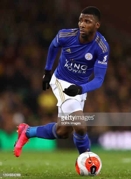 Kelechi Iheanacho of Leicester City in action during the Premier League match between Norwich City and Leicester City at Carrow Road Final Score...