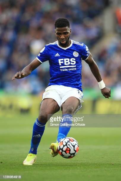 Kelechi Iheanacho of Leicester City in action during the Premier League match between Leicester City and Manchester United at The King Power Stadium...
