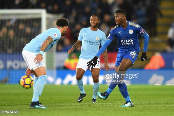 Kelechi Iheanacho of Leicester City in action during the Premier League match between Leicester City and Manchester City at The King Power Stadium on...
